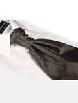 Gun Metal Grey Hand Tie Self Tie Cravat Dupion Vintage Finish & Hanky Set - Formal Saints ltd