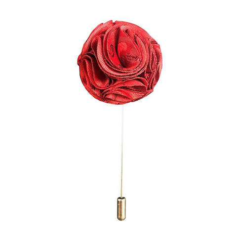 Rose Flower Lapel Pin's Broaches Jacquard , Paisley - Formal Saints ltd