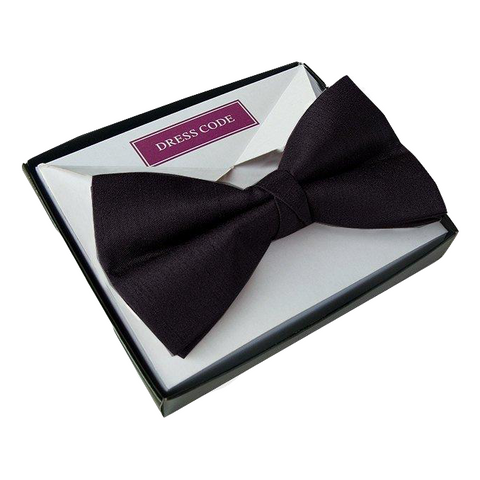 Men's Luxury Satin Black Bow Tie Pre Tied With Gift Boxed - Formal Saints ltd