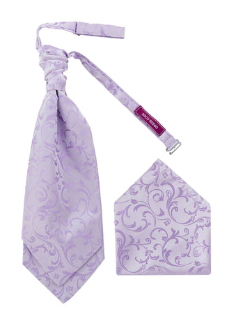 Men's Lilac Swirl Luxury Woven Cravat OR Neck Tie Textured Finish Premium - Formal Saints ltd