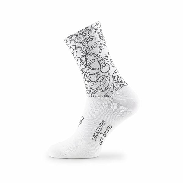 CRAZY PLANET SOCKS WHITE/BLACK