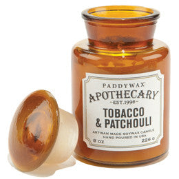 Paddywax Apothecary Jar Candle - Tobacco & Patchouli - 8 oz.