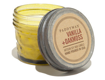 Paddywax soy candle vanilla and oakmoss 3 oz.