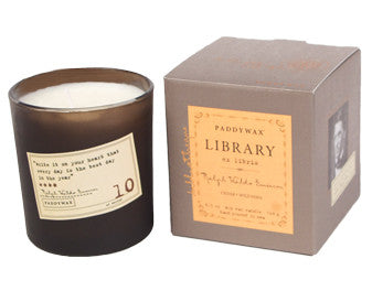 Paddywax Library Glass Candle - Ralph Waldo Emerson