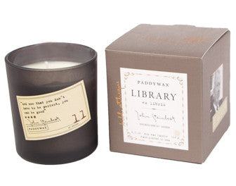 Paddywax Library Glass Candle - John Steinbeck
