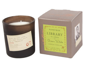Paddywax Library Glass Candle - Oscar Wilde