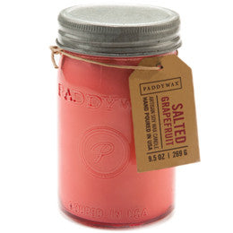 Paddywax soy candle salted grapefruit 9.5 oz.