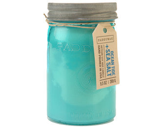 Paddywax soy candle ocean tide and sea salt 9.5 oz.