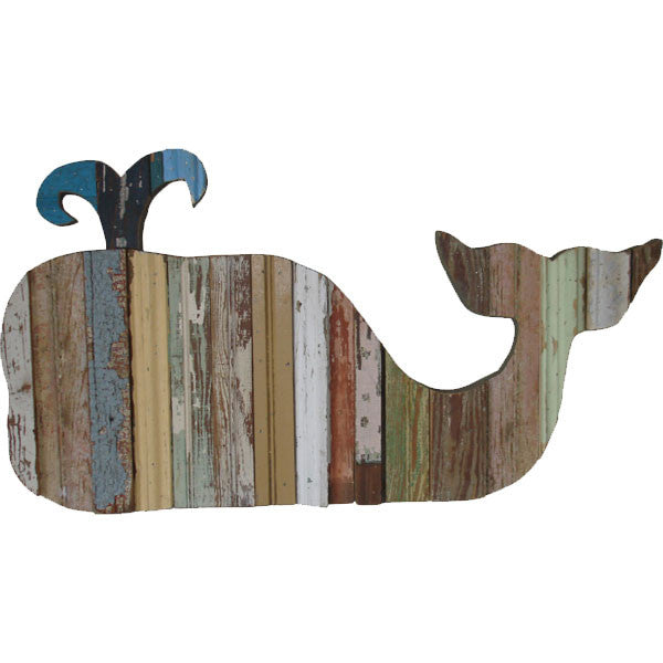 reclaimed wood wall decor - whale