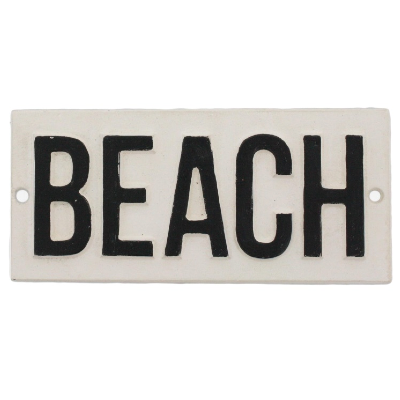 Beach - Iron Sign