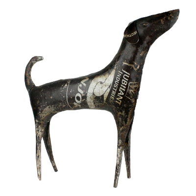 Reclaimed Metal Dog - Handcrafted