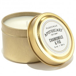 Paddywax Apothecary Tin Candle - Chamomile And Fig - 2 oz.