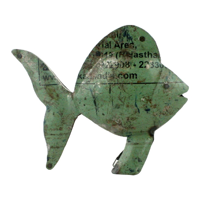 Reclaimed Metal Fish - Handcrafted
