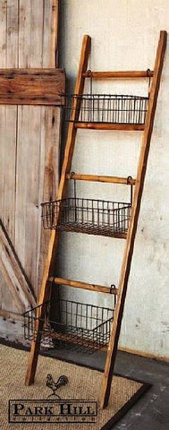 Park Hill - Ladder With Baskets