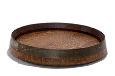 Wine Barrel Lazy Susan - One Stamp