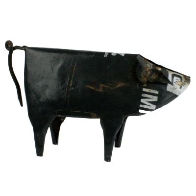 Reclaimed Metal Pig - Handcrafted