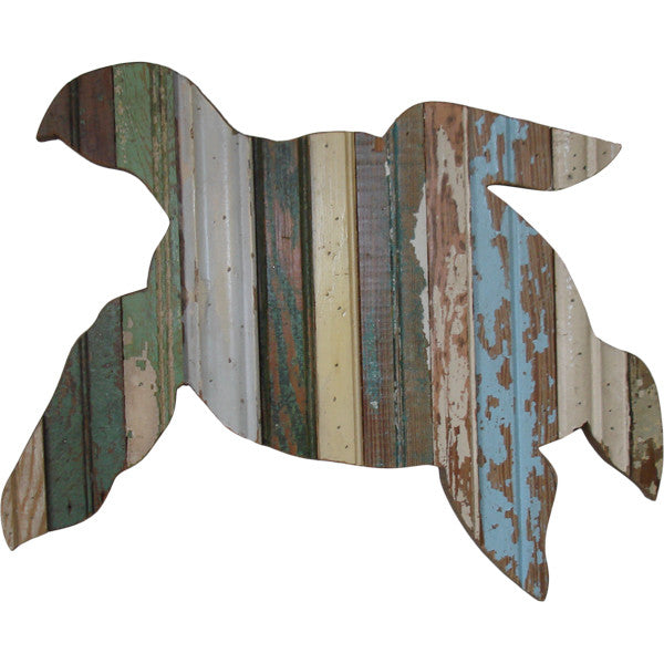 reclaimed wood wall decor - turtle