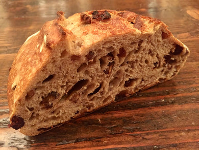 Cranberry Pecan Sourdough Batard