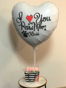 Mother's Day Jumbo Heart Balloon with Floral Bouquet - Fri, May 10th Pickup