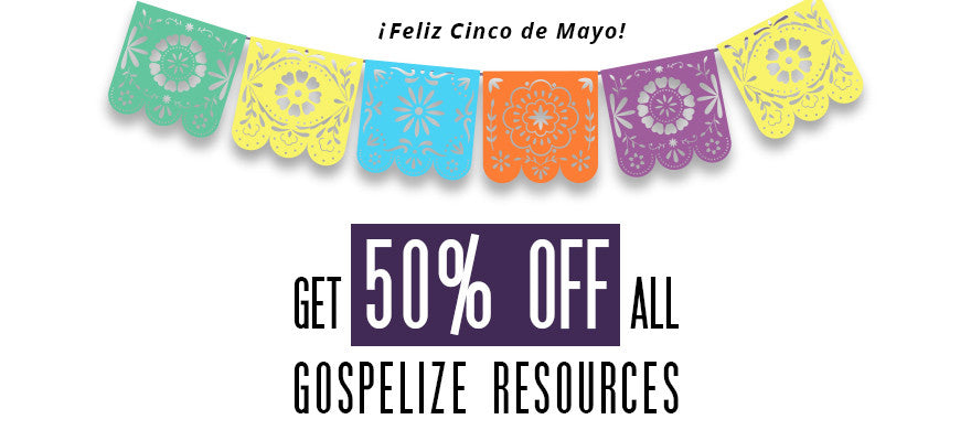 Today only! 50% off all Gospelize Resources!