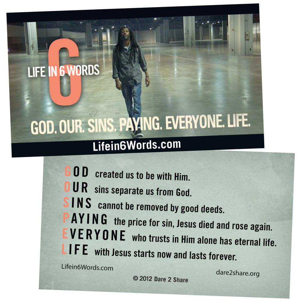 Life in 6 Words GOSPEL Cards