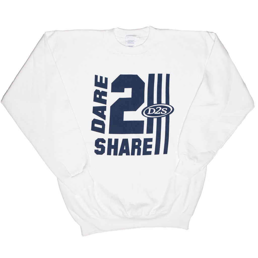 Dare 2 Share White Crew Neck Sweatshirt