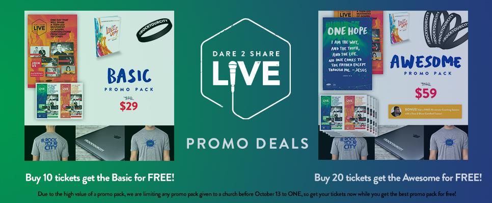 Dare 2 Share LIVE Promo Packs