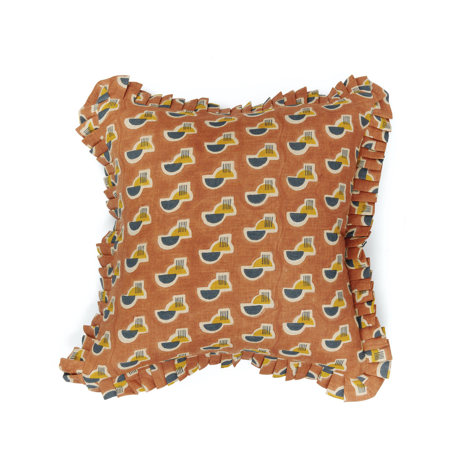Raj Mandir Pillow | Ruffle