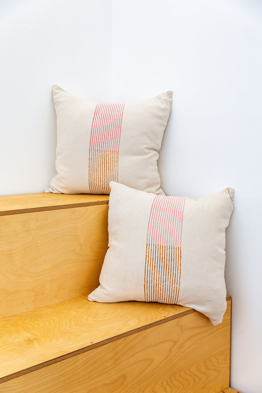 BANDED STRIPE PILLOW