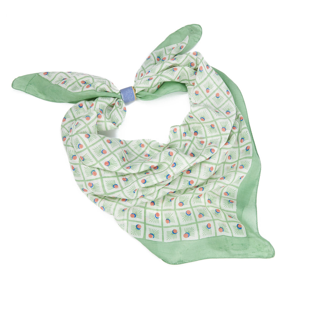BADMINTON | SQUARE SCARF | MINT