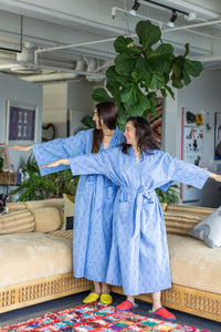 DOROTHY DOT ROBE | CORNFLOWER