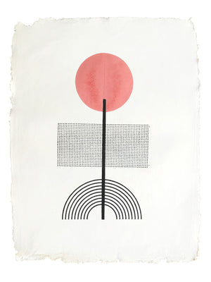 MR. PEOPLE PERSON | ROSE | WOODBLOCK PRINT