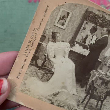 "1897 Steroscope ""wedding"" slide"