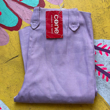 Late 50s Early 60s Deadstock lilac side zips