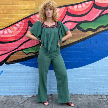 70s cotton jumpsuit