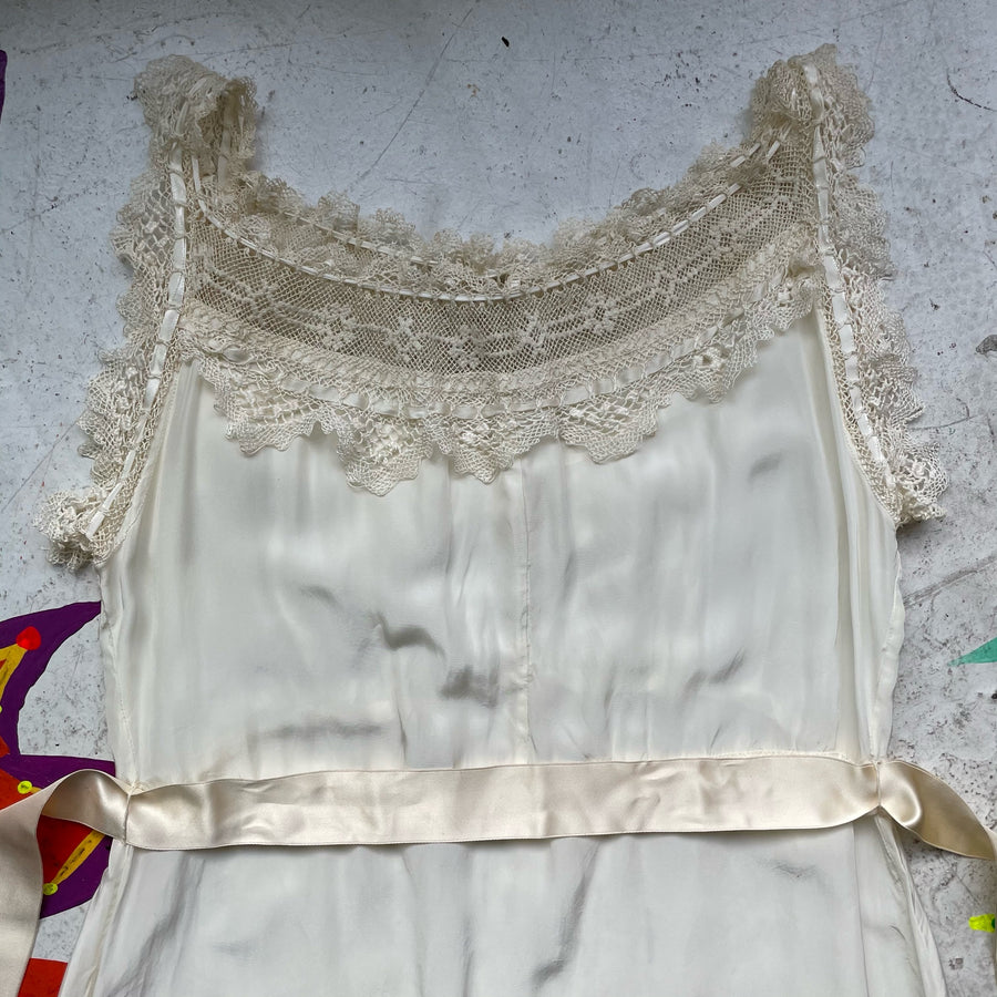 40s Slipdress with antique lace