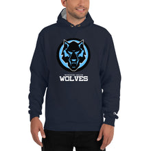 Load image into Gallery viewer, Black & Blue Wolf Champion Hoodie