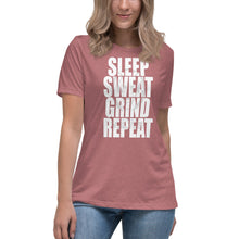 Load image into Gallery viewer, Sleep Sweat Grind Repeat Women's Relaxed T-Shirt