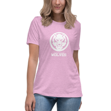 Load image into Gallery viewer, Pastel White Wolf Women's Relaxed T-Shirt