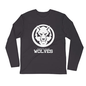 White Wolf Long Sleeve Fitted Crew