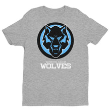 Load image into Gallery viewer, Black & Blue Wolf Short Sleeve Next Level T-shirt