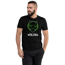Load image into Gallery viewer, Wolves Black & Green Next Level Short Sleeve T-shirt
