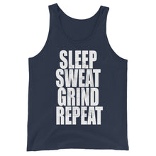 Load image into Gallery viewer, Sleep Sweat Grind Repeat Unisex Tank Top