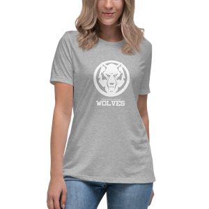 Pastel White Wolf Women's Relaxed T-Shirt