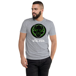Wolves Black & Green Next Level Short Sleeve T-shirt