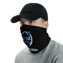 Load image into Gallery viewer, Wolves Black and Blue Neck Gaiter