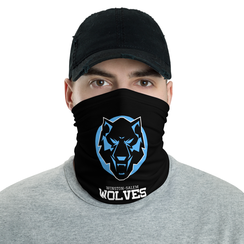 Wolves Black and Blue Neck Gaiter