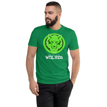 Load image into Gallery viewer, Wolves Double Green Next Level Short Sleeve T-shirt