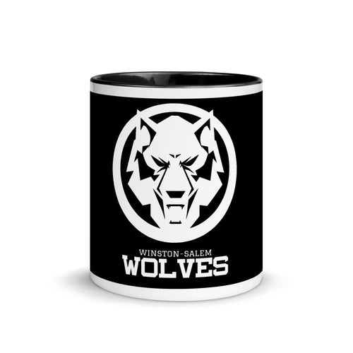 White Wolf Mug with Color Inside