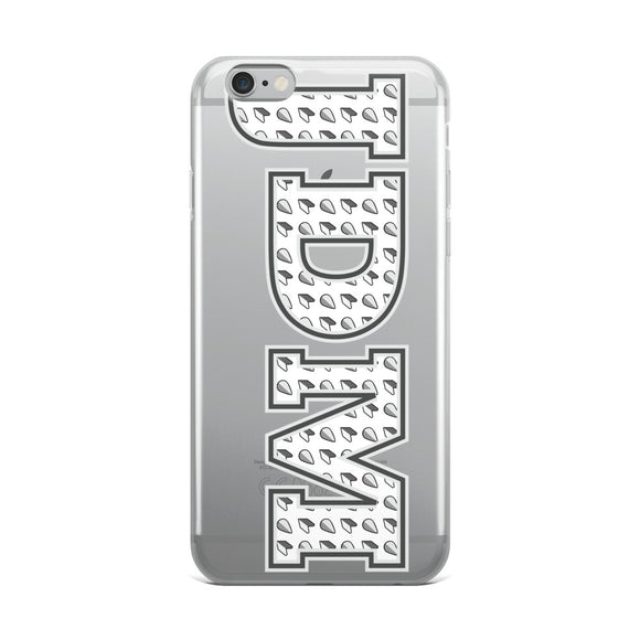 JDM Pattern Grey Tone iPhone Case